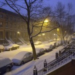 Blizzard in Fort Greene, Brooklyn