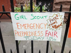 Why, it's a Girl Scout emergency preparedness fair...