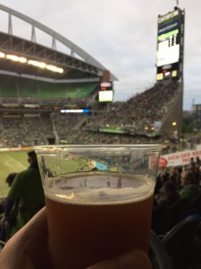 Who knew I'd have to go to a Sounders game to find Mac & Jack's amber? #memories